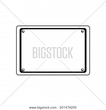 line metal emblem notices and frame design vector illustration
