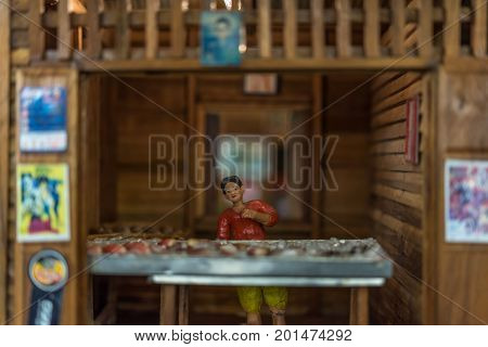 Asian Clay Doll With Ancient Lifestyle Model