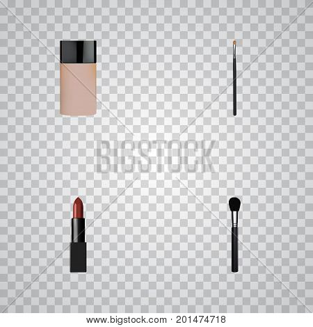 Realistic Pomade, Beauty Accessory, Brow Makeup Tool And Other Vector Elements
