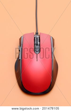 top view of computer mouse and mouse pad
