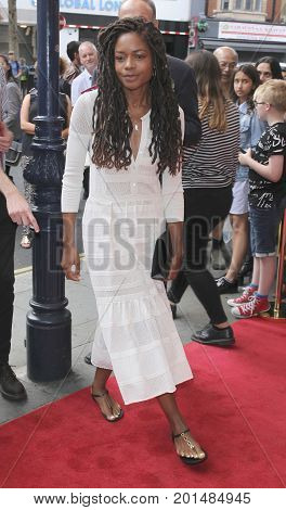 LONDON, UK, AUG 01 2017: Naomi Harris arrives to the Gangsta Granny play press night picture taken from the street