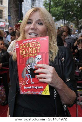 LONDON, UK, AUG 01 2017: Michelle Collins arrives to the Gangsta Granny play press night picture taken from the street