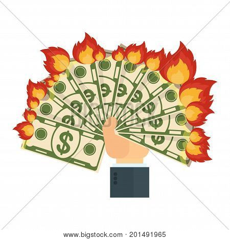 Hand Keeps Burning Money