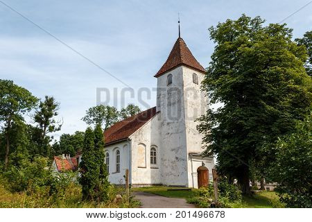 Sabile Evangelic Lutheran Church In The Right Bank Of The Abava Valley Already In The 16Th Century