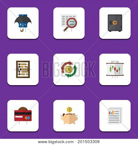 Flat Icon Gain Set Of Scan, Interchange, Document And Other Vector Objects