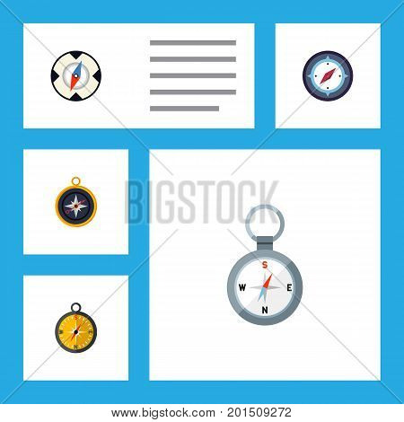 Flat Icon Orientation Set Of Orientation, Magnet Navigator, Navigation And Other Vector Objects