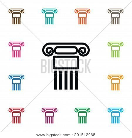 Pillar Vector Element Can Be Used For Pillar, History, Column Design Concept.  Isolated History Icon.