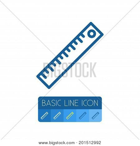 Tool Vector Element Can Be Used For Ruler, Tool, Straightedge Design Concept.  Isolated Ruler Outline.