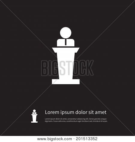 Lecturer Vector Element Can Be Used For Lecturer, Orator, Speaker Design Concept.  Isolated Orator Icon.