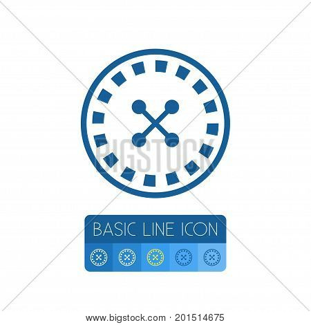 Gambling Vector Element Can Be Used For Gambling, Dice, Play Design Concept.  Isolated Roulette Outline.