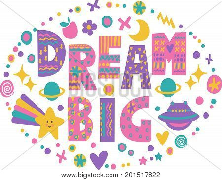 Word Art Dream Big Vector Photo Free Trial Bigstock