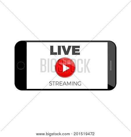 stream live broadcast icon  online  media content banner