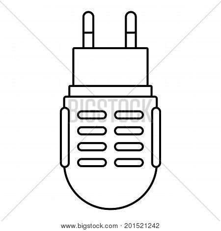 Electric mosquito icon. Outline illustration of electric mosquito vector icon for web