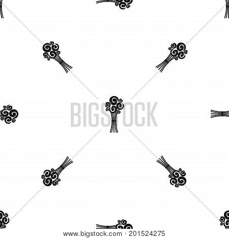 Bridal bouquet of roses in simple style isolated on white background vector illustration
