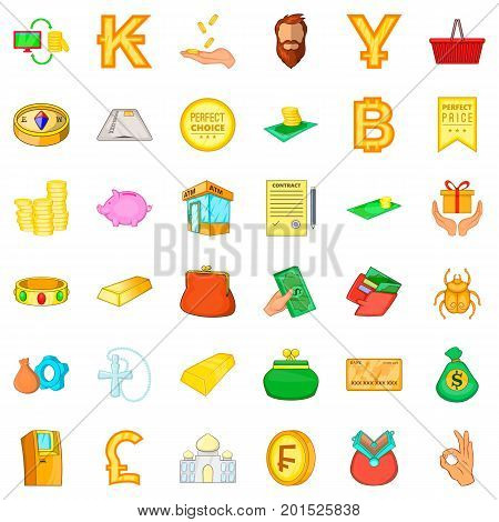 Good choice icons set. Cartoon style of 36 good choice vector icons for web isolated on white background