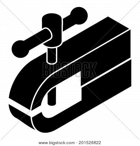 Clamping machine icon. Simple illustration of clamping machine vector icon for web