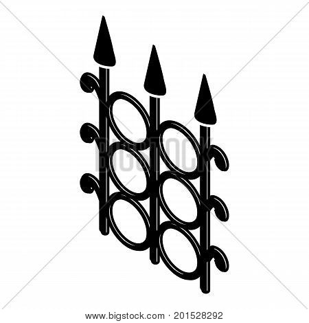 Metal fence icon. Simple illustration of metal fence vector icon for web