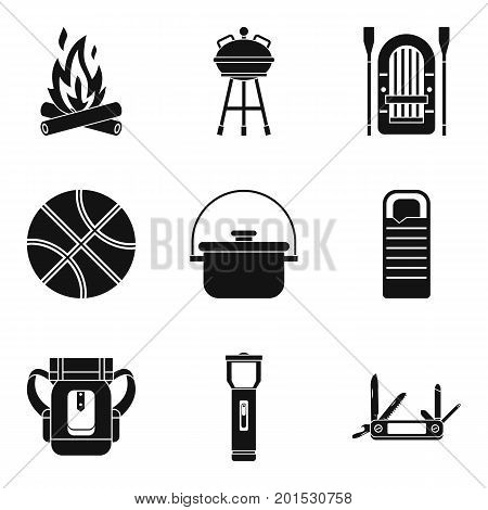 Bowler icons set. Simple set of 9 bowler vector icons for web isolated on white background