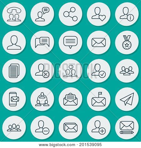 Communication Icons Set. Collection Of Connect, Medal, Conversation And Other Elements