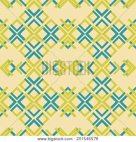 Abstract seamless geometric pattern of colored rectangular elements