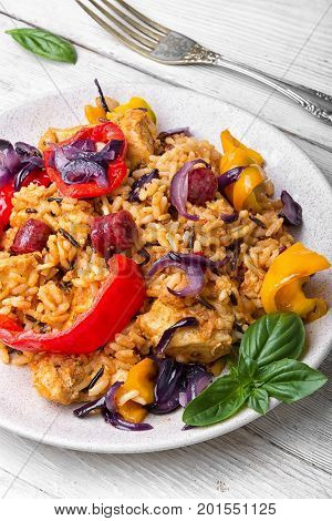 French Jambalaya With Chicken And Rice