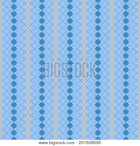 Seamless argyle pattern in pale blue and grey.