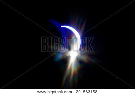 Partial Solar Eclipse Over South Carolina Usa