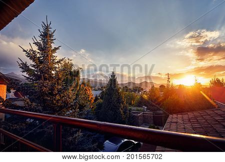 Beautiful Sunrise From The Balcony