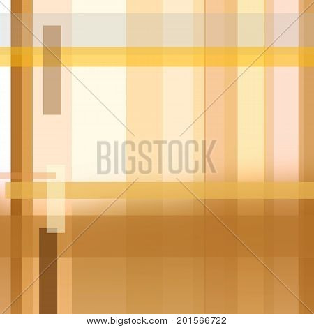 Square pattern of intensive ochre yellow and light brown strips. Geometric abstract background with text space. Modern cover template of technology design. Layout for brochures, books, magazines, leaflets, booklets, posters, flyers, portfolio, annual repo