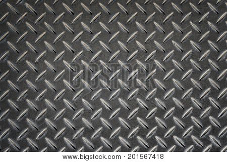 Anti Slip Gray Metal Plate With Diamond Pattern