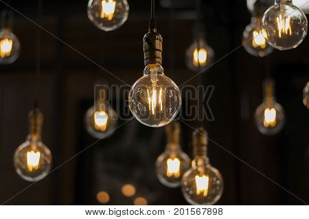 Luxury Beautiful Retro Or Vintage Old Style Light Bulb Decor