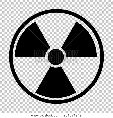 radiation nuclear symbol, isolated on transparent background
