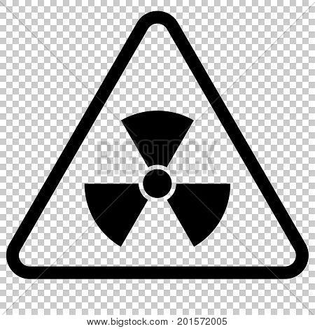 Radiation Hazard Sign. Symbol of radioactive threat alert. Danger label.