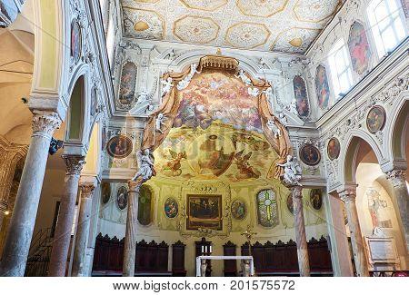 Basilica Di Santa Restituta In Duomo Di Napoli. Naples, Italy.