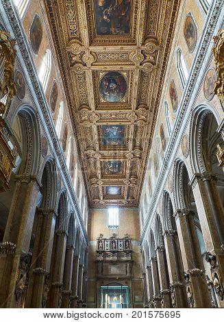 Santa Maria Assunta Cathedral, Duomo Di Napoli. Naples, Campania, Italy.