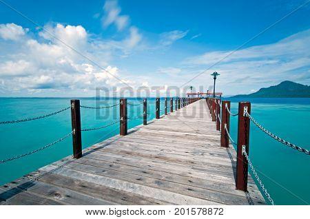 Beautiful Tropical Sea View In Bohey Dulang Island, Tun Sakaran Marine Park In Semporna, Sabah Borne