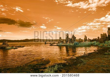 Tufa Formations At Mono Lake At Sunset