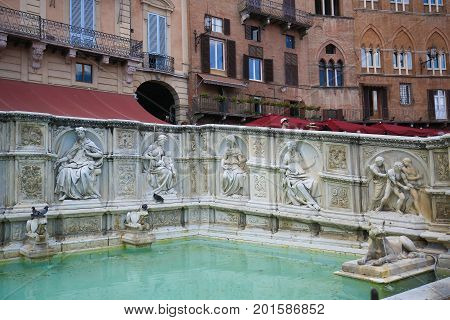 Fonte Gaia In Siena, Italy