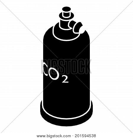 Welding cylinder co2 icon. Simple illustration of welding cylinder co2 vector icon for web