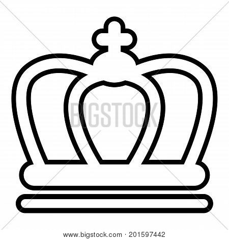 Britain crown icon. Outline illustration of britain crown vector icon for web