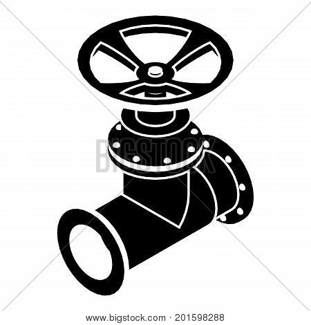Gas pipe icon. Simple illustration of gas pipe vector icon for web