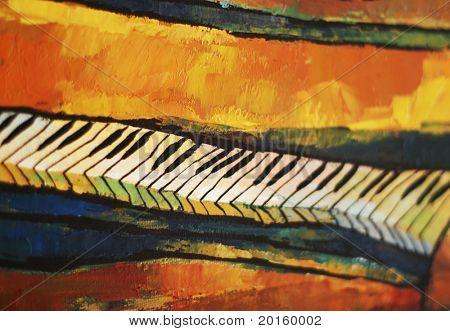 artistic piano closeup