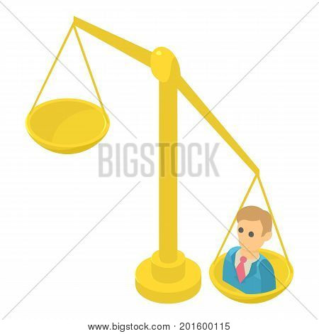 Libra icon. Isometric illustration of libra vector icon for web
