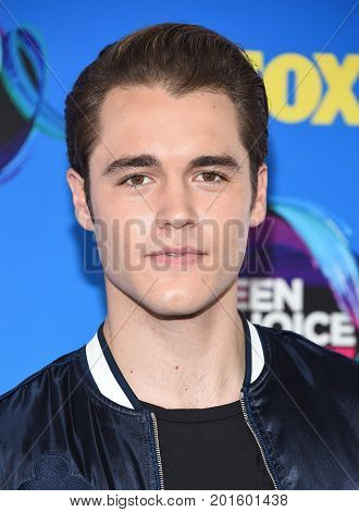 LOS ANGELES - AUG 13:  Charlie DePew arrives for the Teen Choice Awards 2017 on August 13, 2017 in Los Angeles, CA