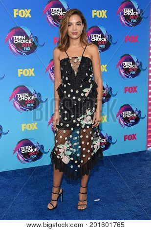 LOS ANGELES - AUG 13:  Georgie Flores arrives for the Teen Choice Awards 2017 on August 13, 2017 in Los Angeles, CA