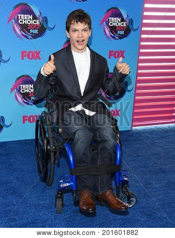 LOS ANGELES - AUG 13:  Micah Fowler arrives for the Teen Choice Awards 2017 on August 13, 2017 in Los Angeles, CA