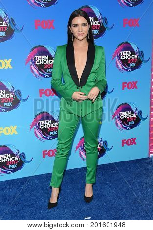 LOS ANGELES - AUG 13:  Katie Stevens arrives for the Teen Choice Awards 2017 on August 13, 2017 in Los Angeles, CA