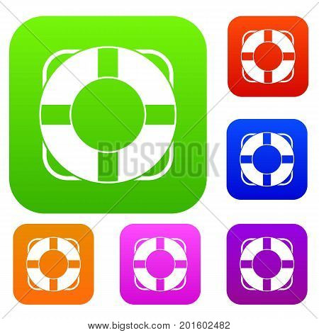 Lifeline set icon in different colors isolated vector illustration. Premium collection