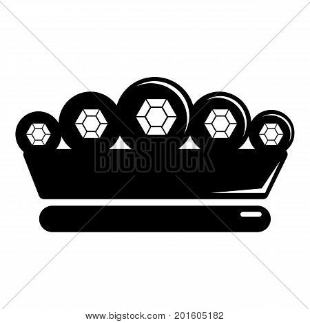 King crown icon. Simple illustration of king crown vector icon for web