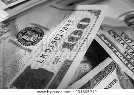 Business Profits Black & White Close Up High Quality